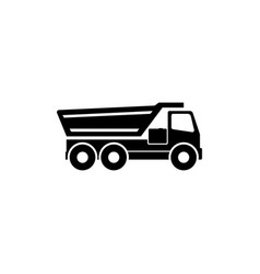 tipper truck flat icon vector image