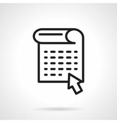 Web news black line design icon vector image