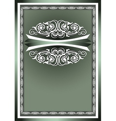 White frame ornaments vector image