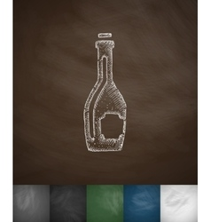 Wine icon hand drawn vector