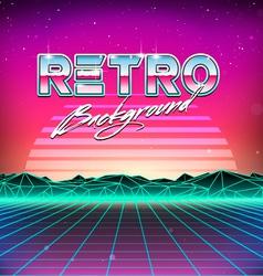 80s retro futurism sci-fi background vector