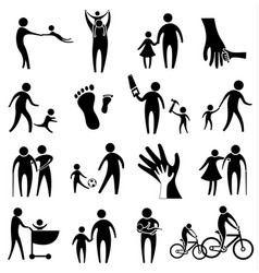 activity of father and child vector image