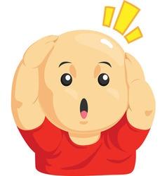 Cartoon of Funny Bald Kid vector image vector image