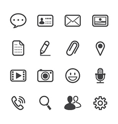 Chat Application Icons vector image vector image
