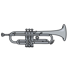 Classic silver trumpet vector image vector image