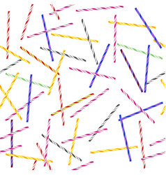 colorful striped drinking straws seamless pattern vector image vector image