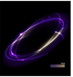 glow light lines round on dark background vector image