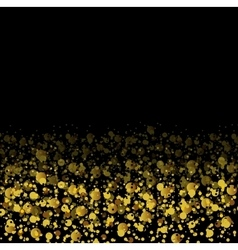 Golden glitter shiny particles abstract background vector image