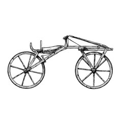 hand drawn of bicycle vector image