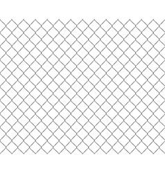 Old metal mesh steel fence seamless vector image vector image