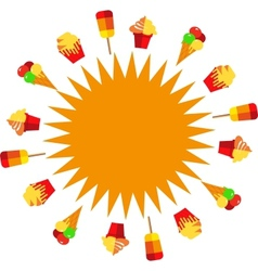 sun of ice creams at summer time vector image