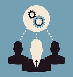 Team Work Icon Set vector image vector image