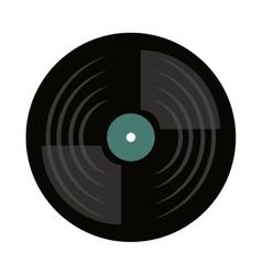 vinyl disc isolated icon vector image