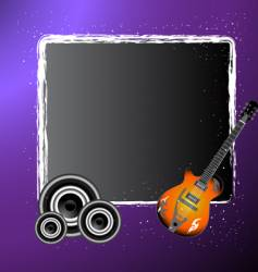 abstract musical illustration vector image vector image