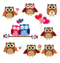 Cute owls vector image vector image
