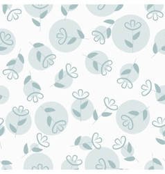 Simple floral seamless pattern with spots vector image vector image
