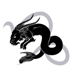 capricorn zodiac horoscope astrology sign vector image