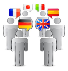 Languages concept vector image vector image