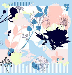 silk scarf vector image vector image