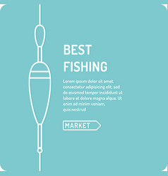 the best fishing in linear vector image vector image