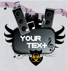 a dark urban music poster vector image