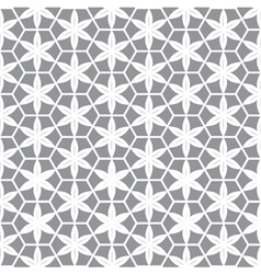 abstract white flower in grey background vector image vector image