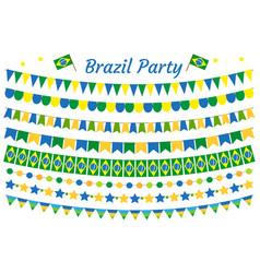 brazil garland set brazilian festive decorations vector image vector image