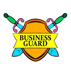 business guard icon cartoon vector image
