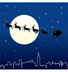 Christmas cityscape vector image vector image