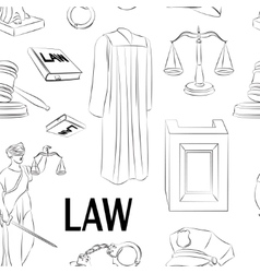 Law hand drawn pattern vector image vector image