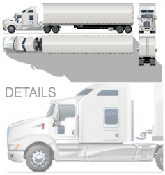 vector HI detailed semi truck vector image vector image