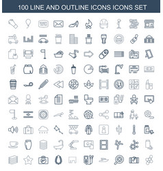 100 icons icons vector