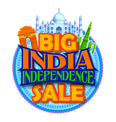 15th august happy independence day india sale vector