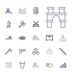22 ancient icons vector