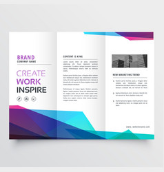 Abstract colorful tri-fold brochure design vector