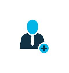 add to team icon colored symbol premium quality vector image