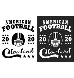 american football cleveland print vector image