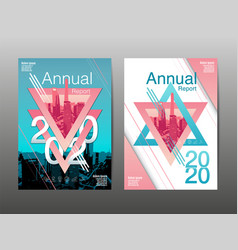 Annual report 2020 future business template vector
