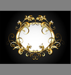 antique oval banner vector image