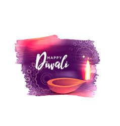 artistic happy diwali festival background with vector image