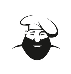 Bearded chef in toque vector