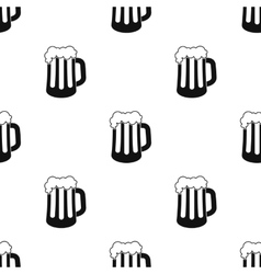 Beer mug icon in black style isolated on white vector image