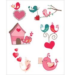 Bird love vector