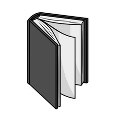black standing book icon in monochrome style vector image