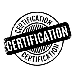 Certification rubber stamp vector