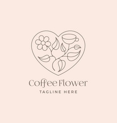 coffee flower abstract trendy sign symbol vector image