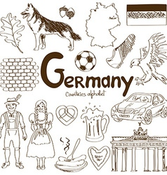 Collection germany icons vector