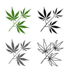 Design marijuana and leaf sign web vector
