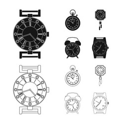 design of clock and time symbol collection vector image