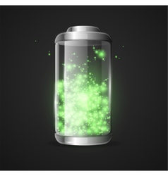 Detailed glossy battery vector